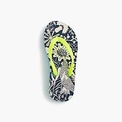 Girls' flip-flops in mermaid floral
