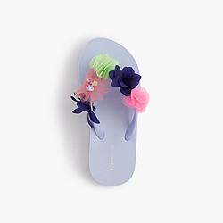 Girls' flip-flops in embellished flowers