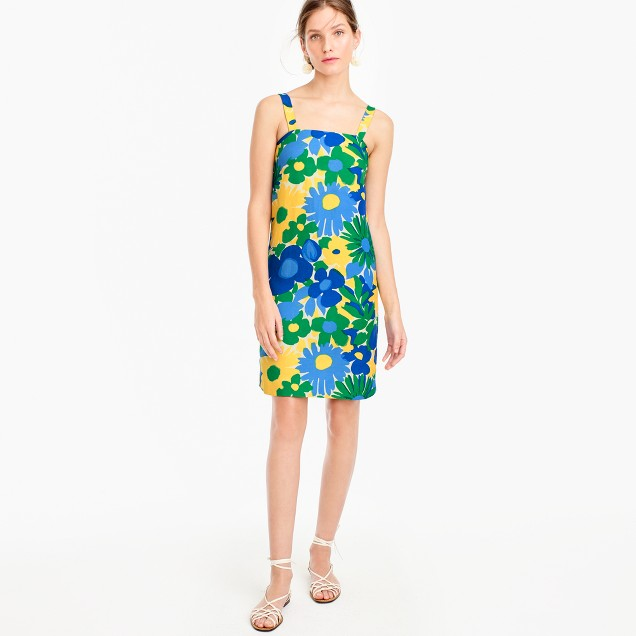Shift dress in morning floral