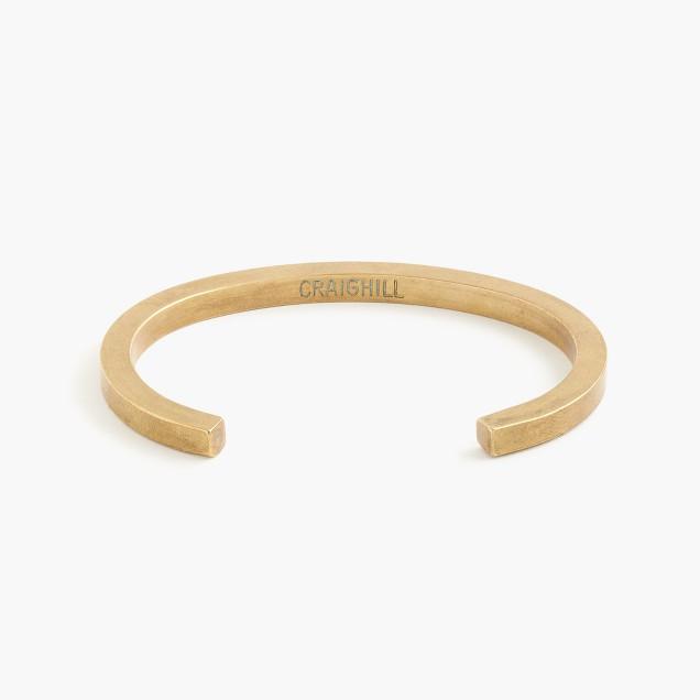Craighill™ brass uniform square cuff bracelet