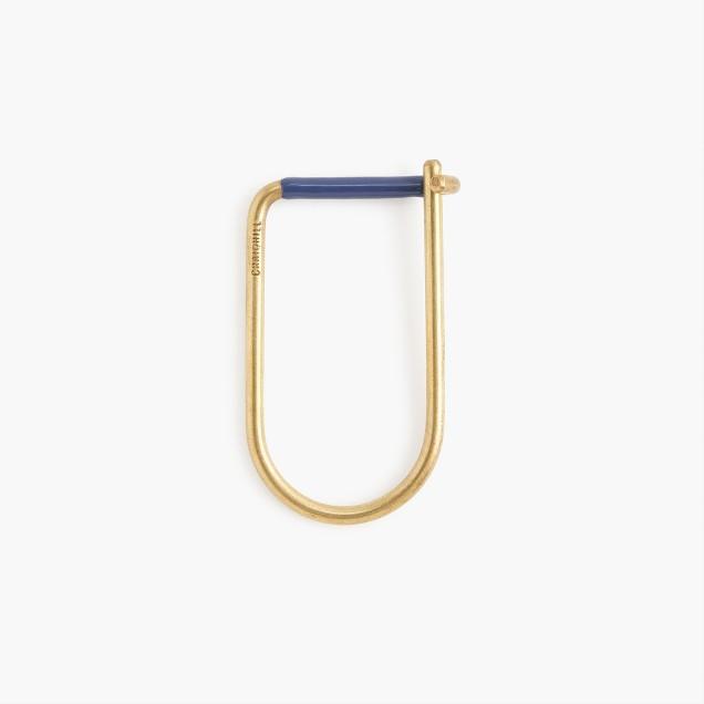 Craighill™ brass Wilson key ring with blue enamel stripe