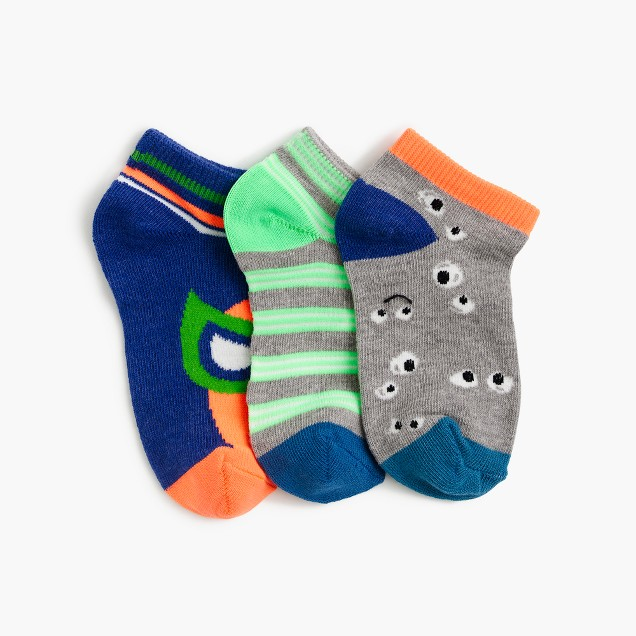 Boys' striped luchador ankle socks three-pack