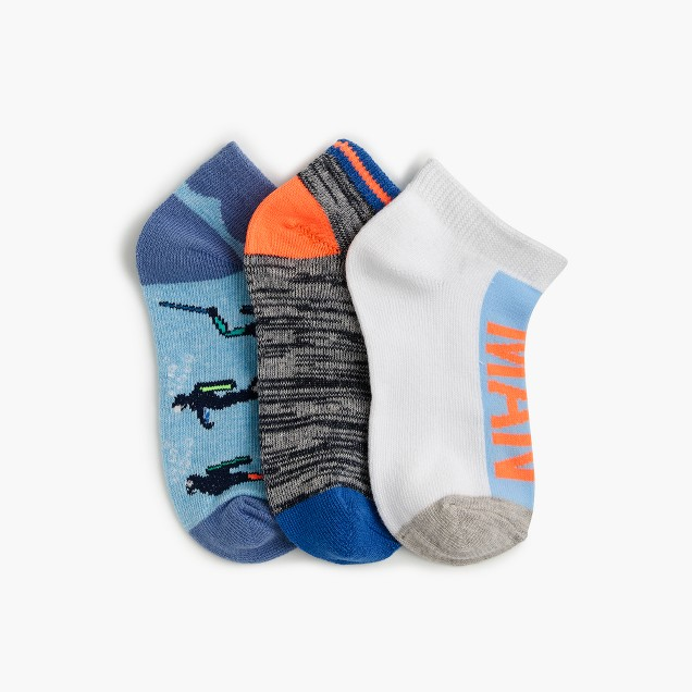 "Boys' ""the man"" ankle socks three-pack"