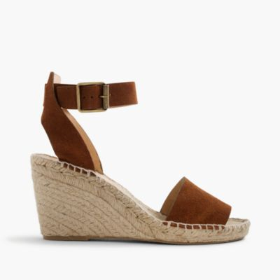 Corsica espadrille wedges in suede