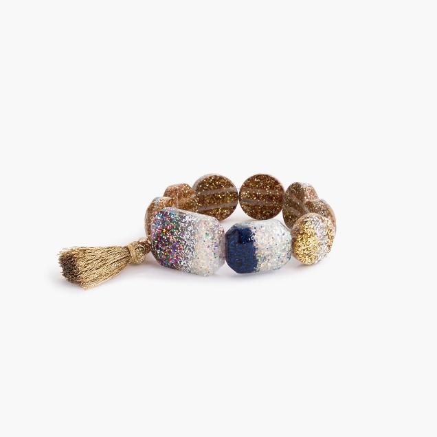 Girls' glitter tassel bracelet