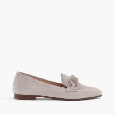 Suede Charlie loafers with Lucite links