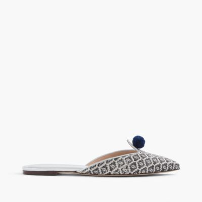 Ikat pointed-toe mules