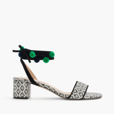 Ikat ankle-wrap sandals