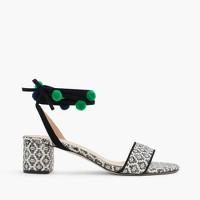 Ikat ankle-wrap sandals