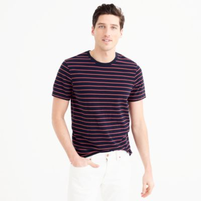 Tall piqué T-shirt in stripe