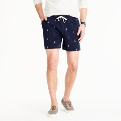 Sweatshort in embroidered lighthouses