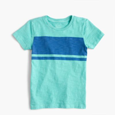 Boys' garment-dyed striped T-shirt