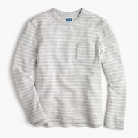 Striped sweatshirt in grey