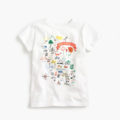 "Girls' ""California"" destination art T-shirt"