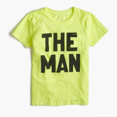 "Boys' garment-dyed ""The Man"" T-shirt"