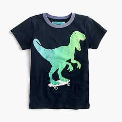 Boys' glow-in-the-dark dino skateboarder T-shirt