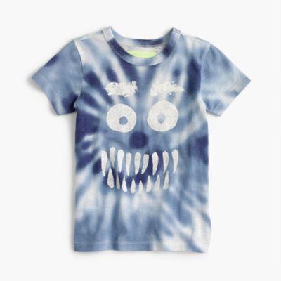 Boys' glow-in-the-dark tie-dye Yeti T-shirt