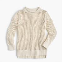 Girls' open-knit beach sweater