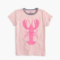 Girls' sequin lobster T-shirt
