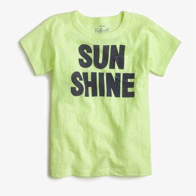 "Girls' ""sunshine"" T-shirt"
