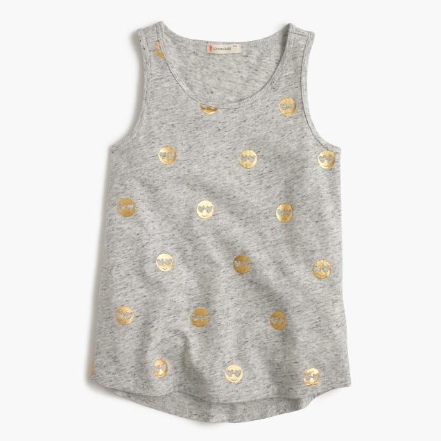 Girls' tank top with emojis