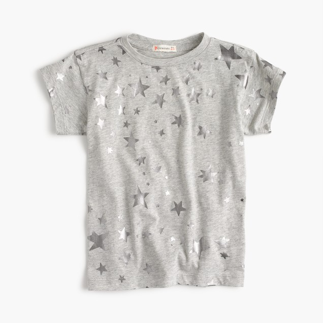 Girls' metallic star T-shirt