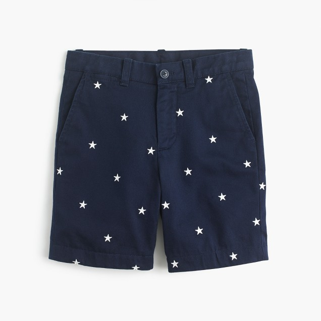 Boys' critter Stanton short in glow-in-the-dark stars