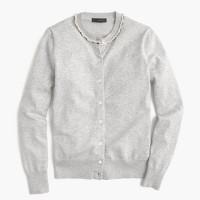 Cotton Jackie beaded cardigan sweater