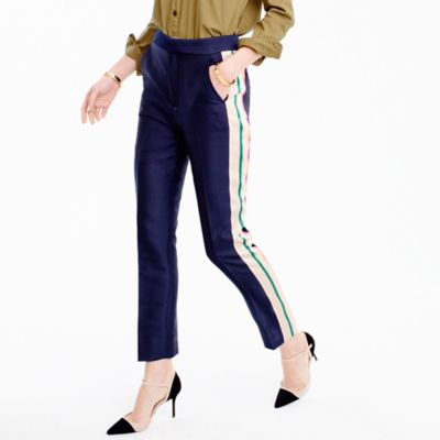 Collection double-faced satin pant with pop tux stripe
