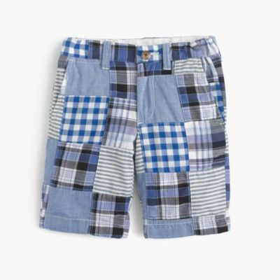 Boys' Stanton short in patchwork plaid