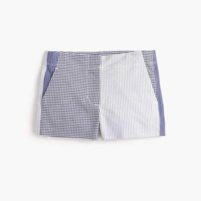 Girls' Frankie short in mash-up stripe