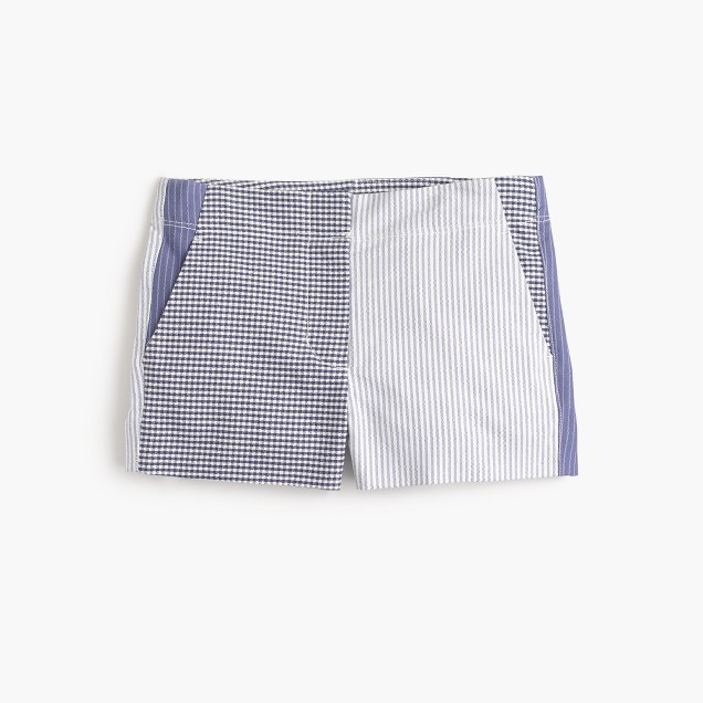 Girls' Frankie short in mash-up stripe