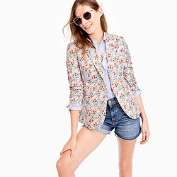 Petite Campbell blazer in Liberty® poppy and daisy floral