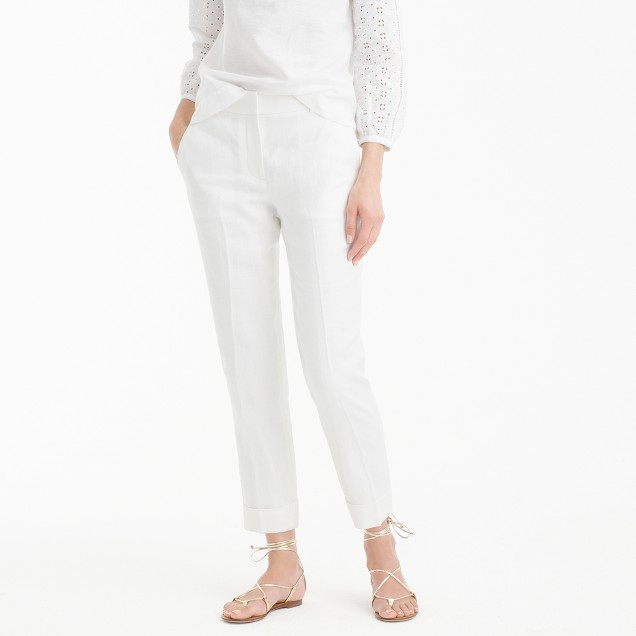 Tall Rhodes pant in linen