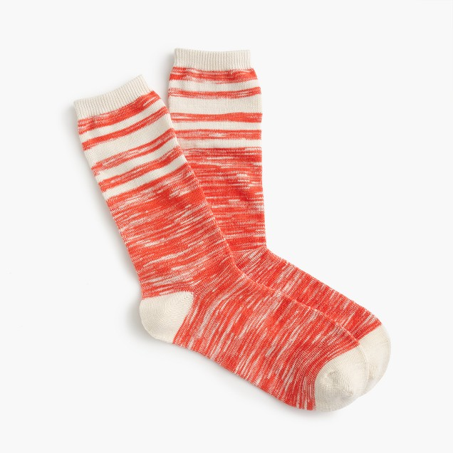 Marled trouser socks
