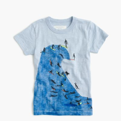 Boys' glow-in-the-dark big wave T-shirt