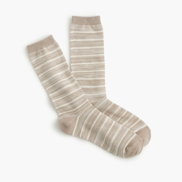 Striped marled trouser socks