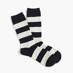 Trouser socks in stripes and dots