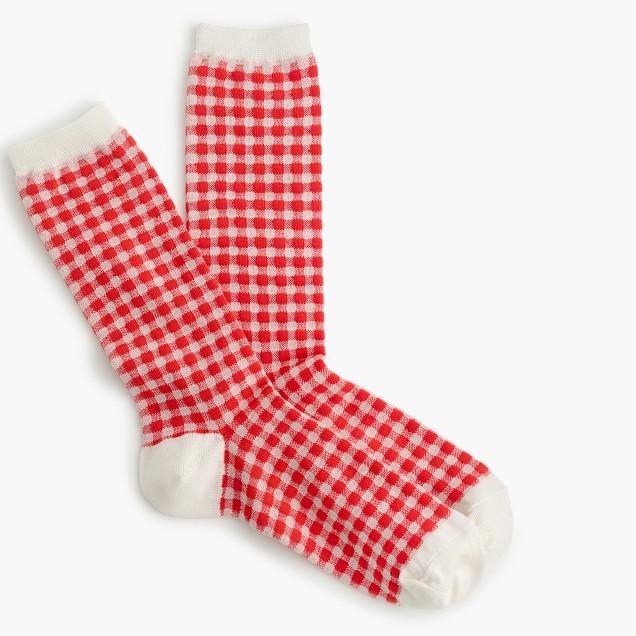 Gingham trouser socks