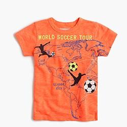 "Boys' glow-in-the-dark ""world soccer tour"" T-shirt"