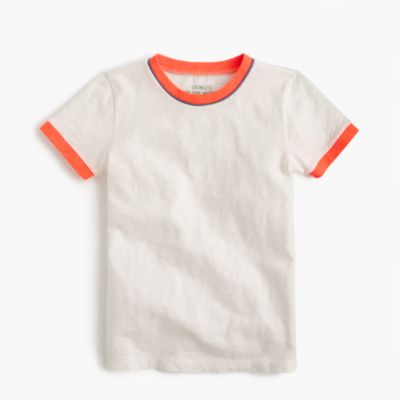 Boys' piped ringer slub T-shirt