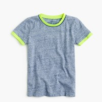 Boys' heathered piped ringer T-shirt