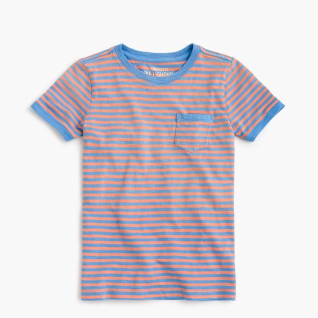 Boys' pocket T-shirt in stripes