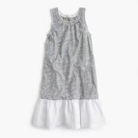 Girls' ruffle-hem dress