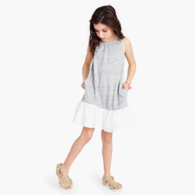 Girls' ruffle-hem dress