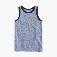Boys' colorblocked pocket tank top