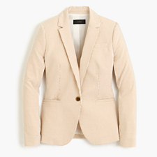 Petite Campbell blazer in stretch seersucker - OCHRE IVORY