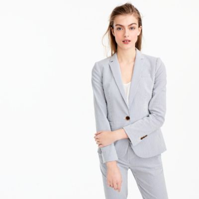 Campbell blazer in stretch seersucker