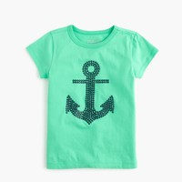 Girls' gemstone anchor T-shirt
