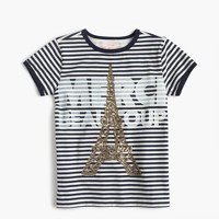 "Girls' ""Merci Beaucoup"" T-shirt"